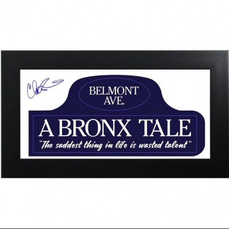 """""""A Bronx Tale"""" Belmont Ave Hand Signed by Chazz Palminteri"""