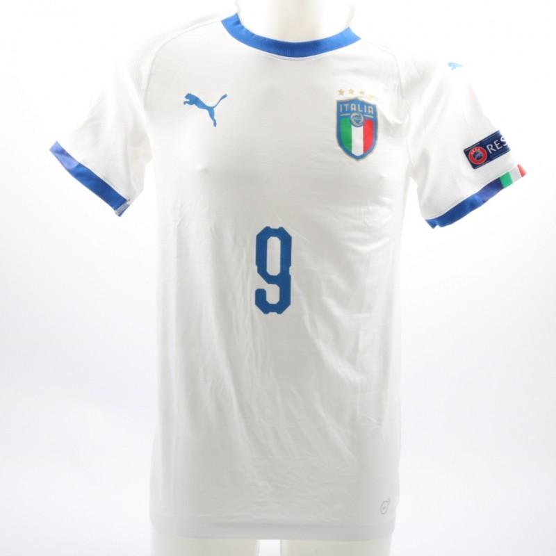 Vergani's Match-Issue/Worn Israel-Italy Shirt, World Cup U-17, 2018