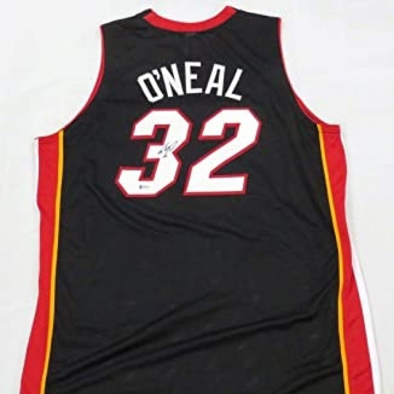 Shaquille O'Neal Hand Signed Miami Heat Jersey