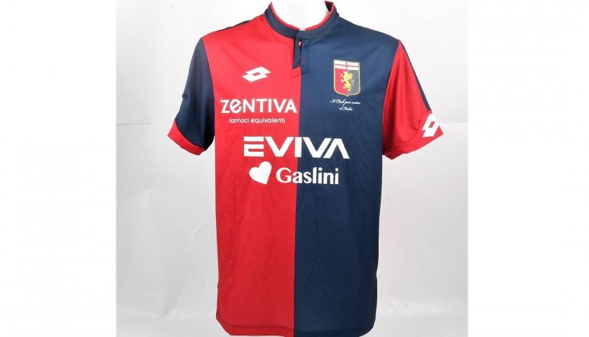 Bertolacci's UNWASHED Special Genoa-Sampdoria Bench-Worn Shirt