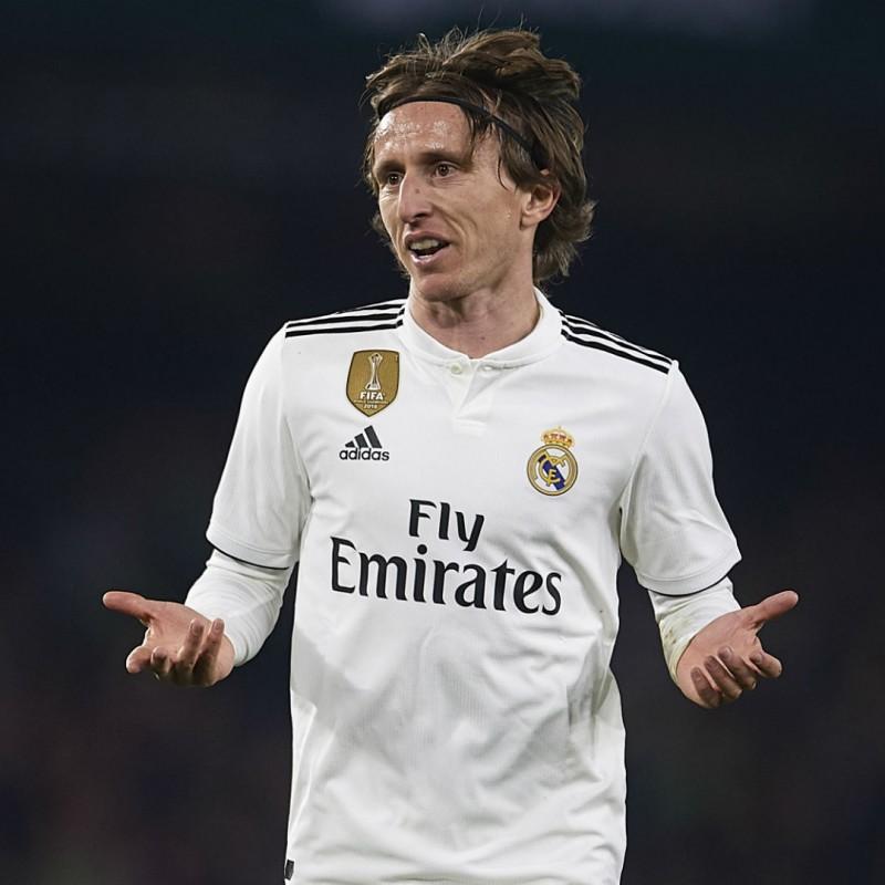 Modric's Real Madrid Match Shirt, UCL 2018/19
