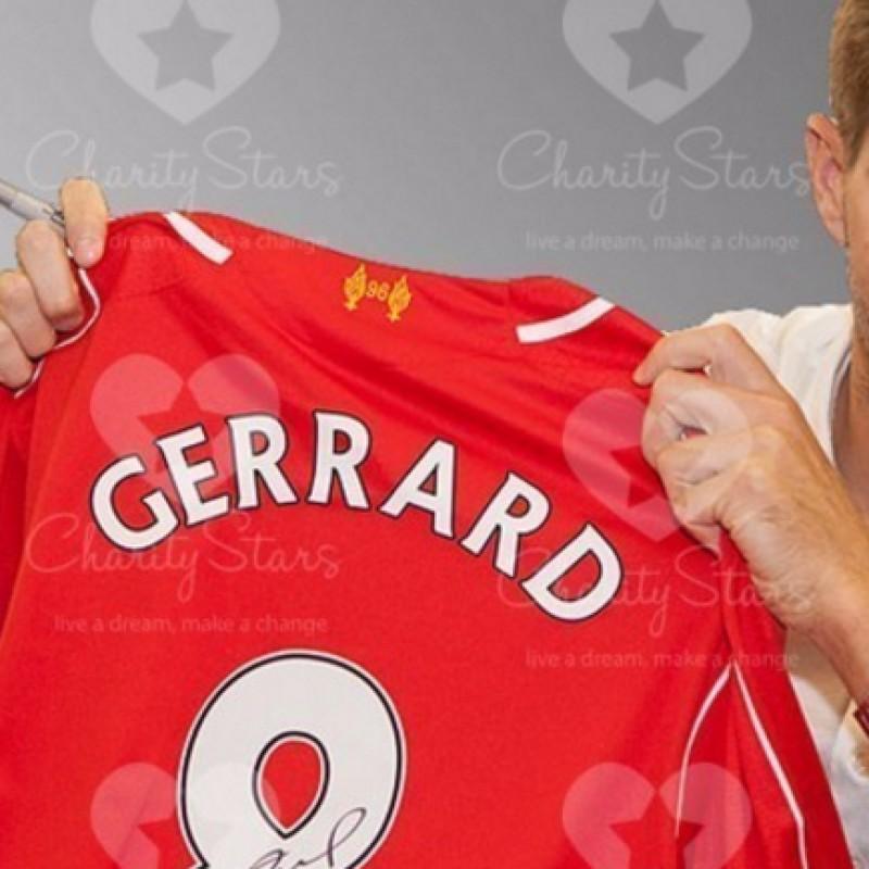 Liverpool Gerrard Signed Shirt