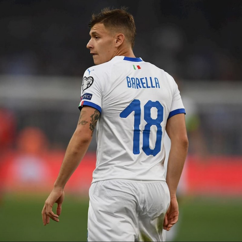 Barella's Match Shirt, Greece-Italy 2019