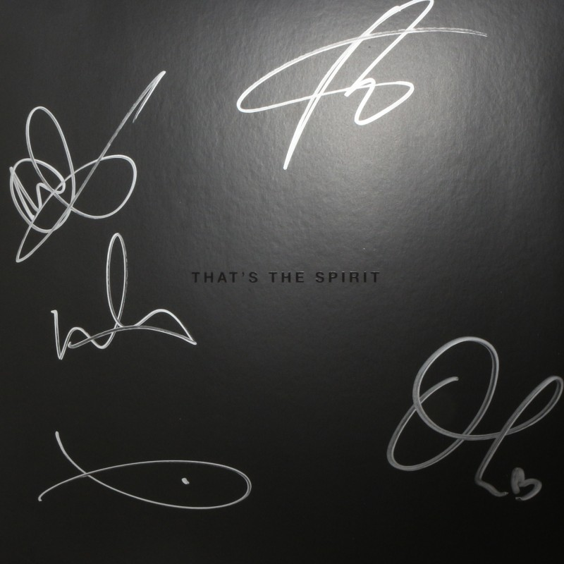 """Mat Nicholls, Bring Me The Horizon Framed 'That's The Spirit' 12"""" Record Signed by Whole Band"""