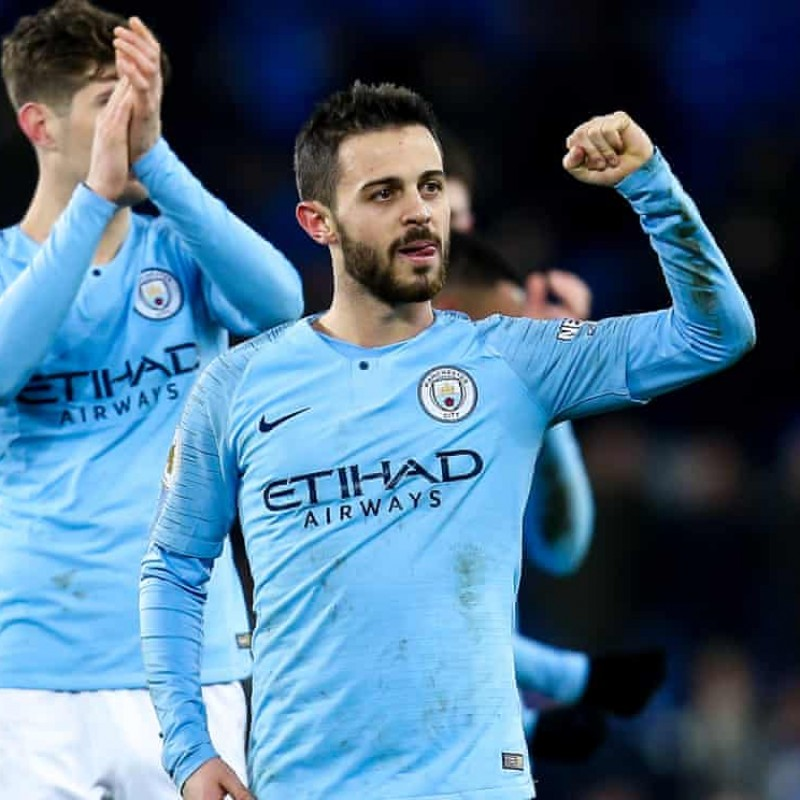 Man City 2019 Champions Shirt - Signed by Bernardo Silva