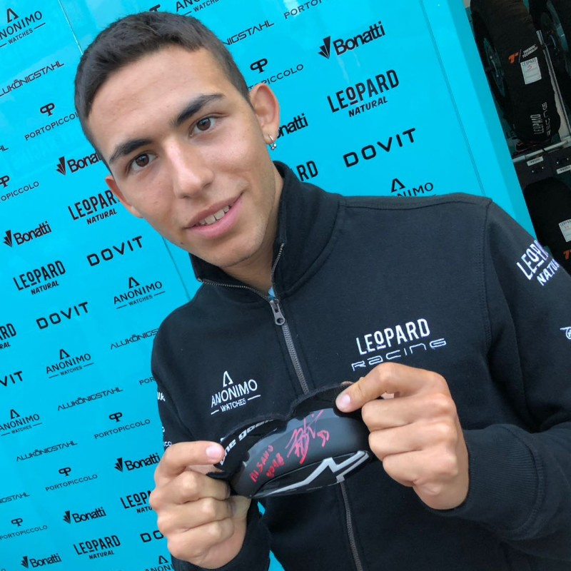 Official Leopard Racing Knees Slider Signed by Enea Bastianini