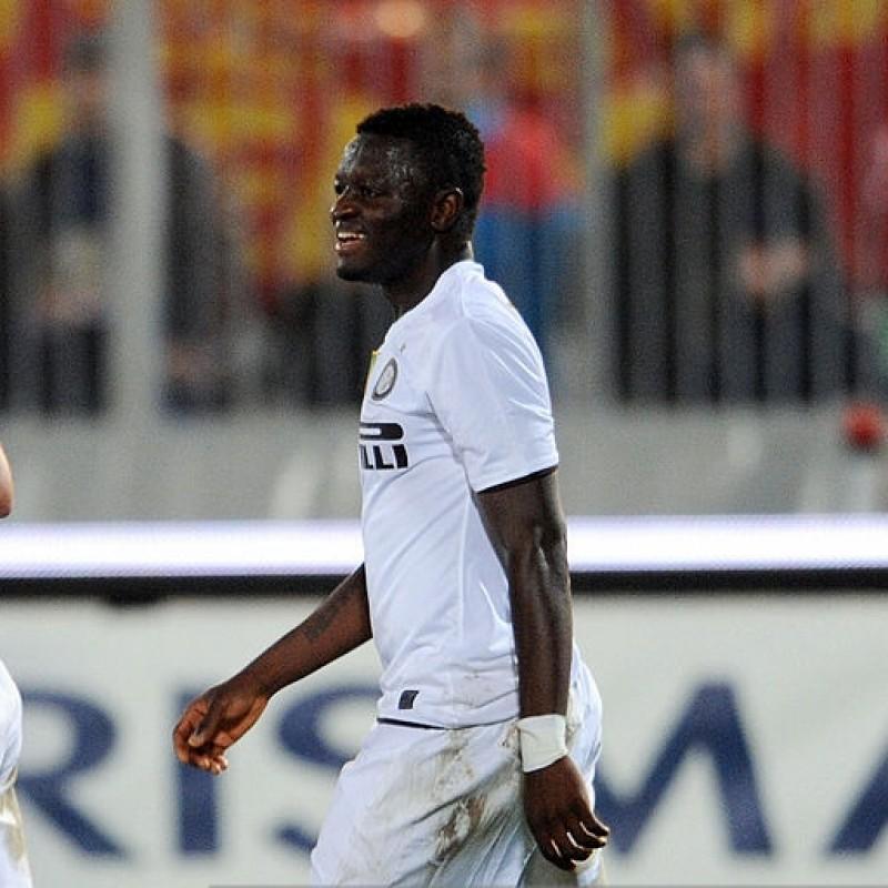Muntari's Match-Worn 2009 Catania-Inter Shirt, UNWASHED