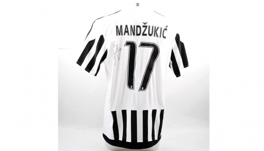 Signed Official Mandzukic 2015/16 Juventus Shirt