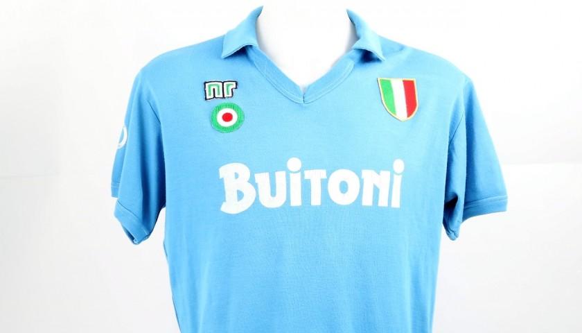 Maradona Napoli Issued Worn-Shirt f5a794755
