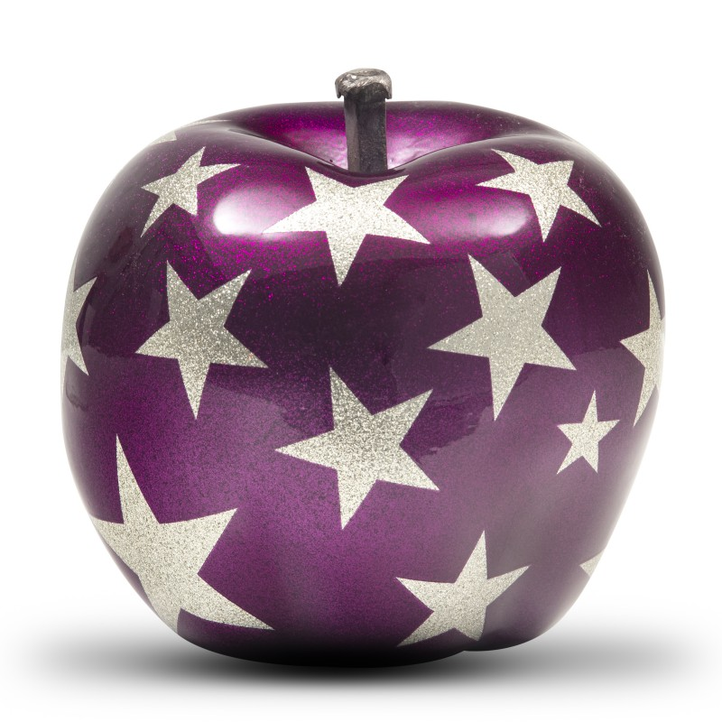 """Purple Stars Apple"" by Milena Bini"