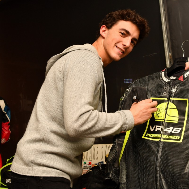 Francesco Bagnaia's VR46 Academy Worn and Signed Training Racesuit