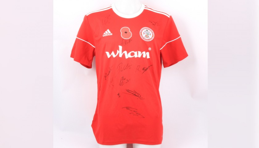 Accrington Stanley Official Poppy Shirt Signed by the Team