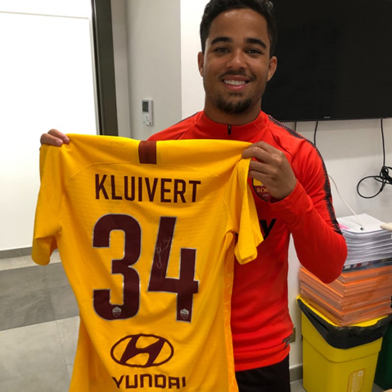 Kluivert's Match-Issue Shirt, Spal-Roma - Special Giuliano Taccola