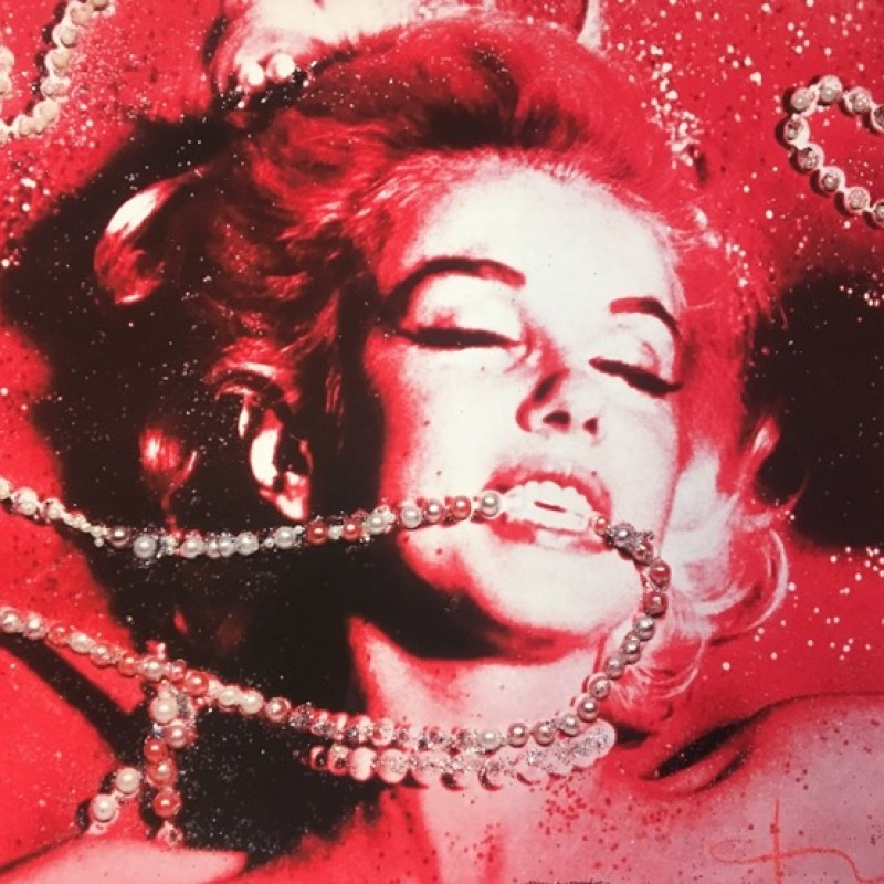 """Marilyn, Jeweled Pearl Portrait"" by Bert Stern"