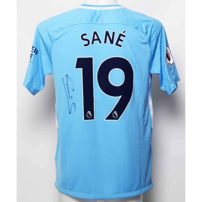 Manchester City FC Shirt Signed by Leroy Sane from 2018