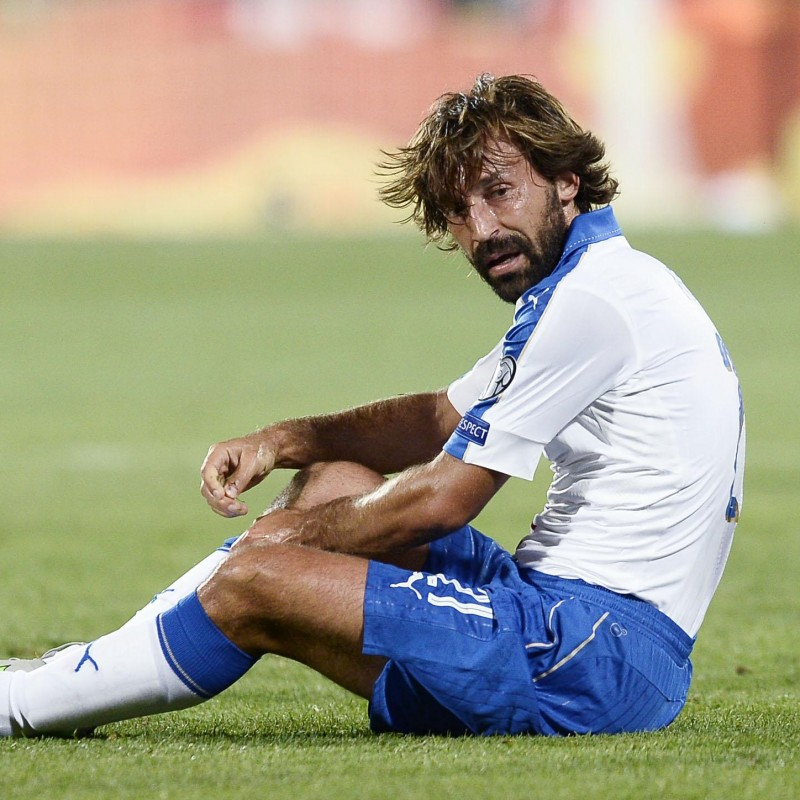 Pirlo's Italy Match-Issue/Worn Shirt, Euro Qualifiers 2016