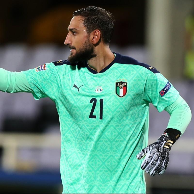 Donnarumma's Match Shirt, Italy-Bosnia 2020