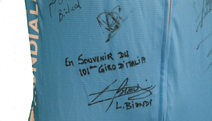 Official AG2R La Mondiale Signed Shirt + Cap