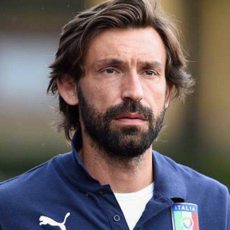 Official Italy Polo Shirt, 2010 -  Signed by Andrea Pirlo