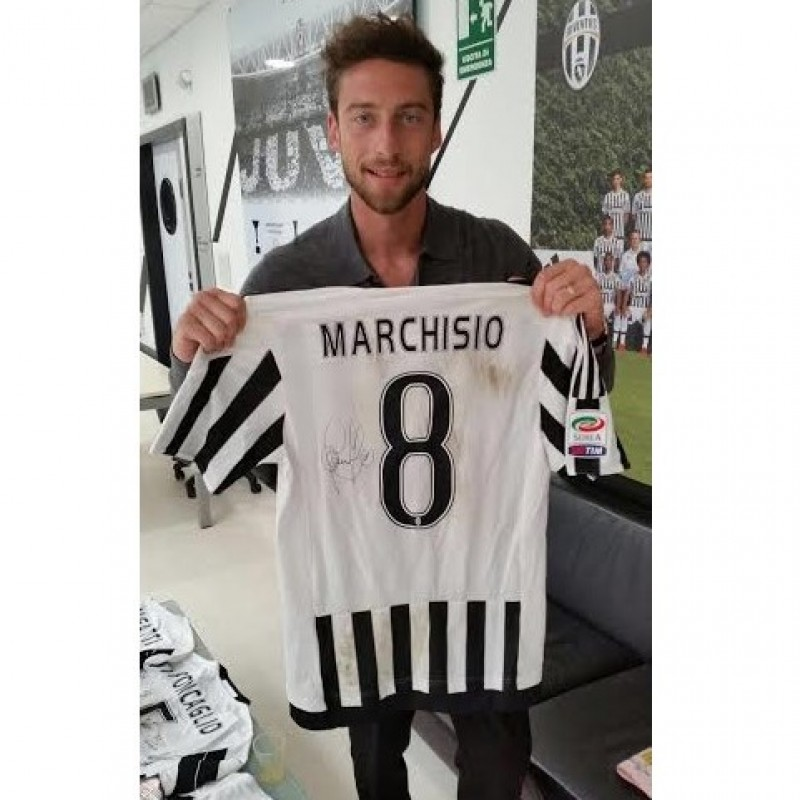 Match worn Marchisio Juventus, Serie A 15/16 UNWASHED - signed