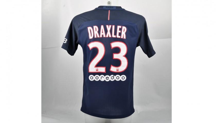 timeless design a2f90 b5973 Draxler's PSG Shirt, Issued/Worn 2016/17 - CharityStars