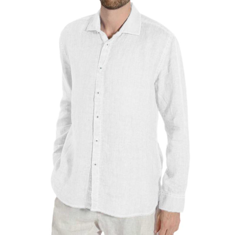 WHITE Men's Shirt by 120% Lino