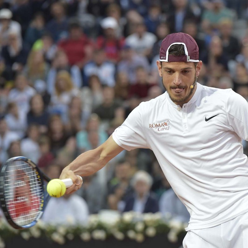 Racket used by Alessandro Florenzi, Tennis with Stars - signed