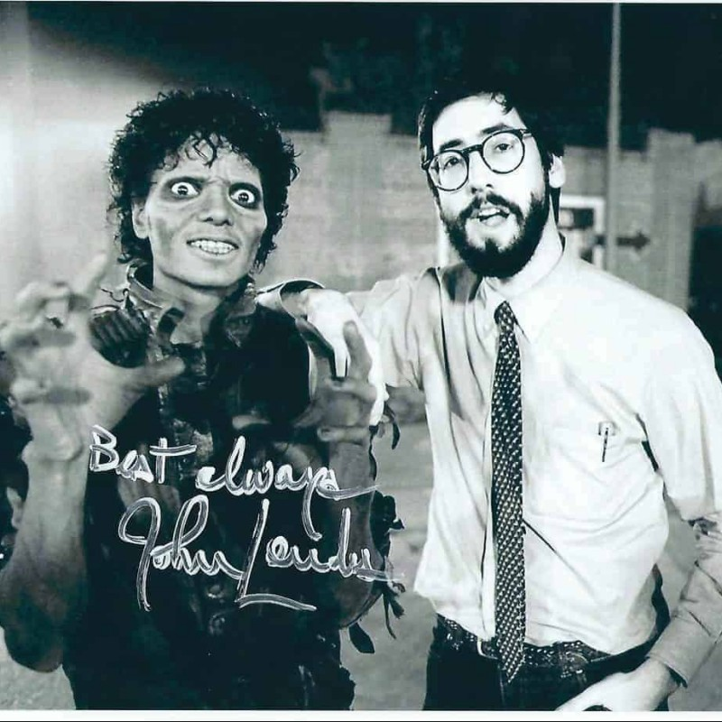 """""""Thriller"""" Photograph Signed by John Landis"""