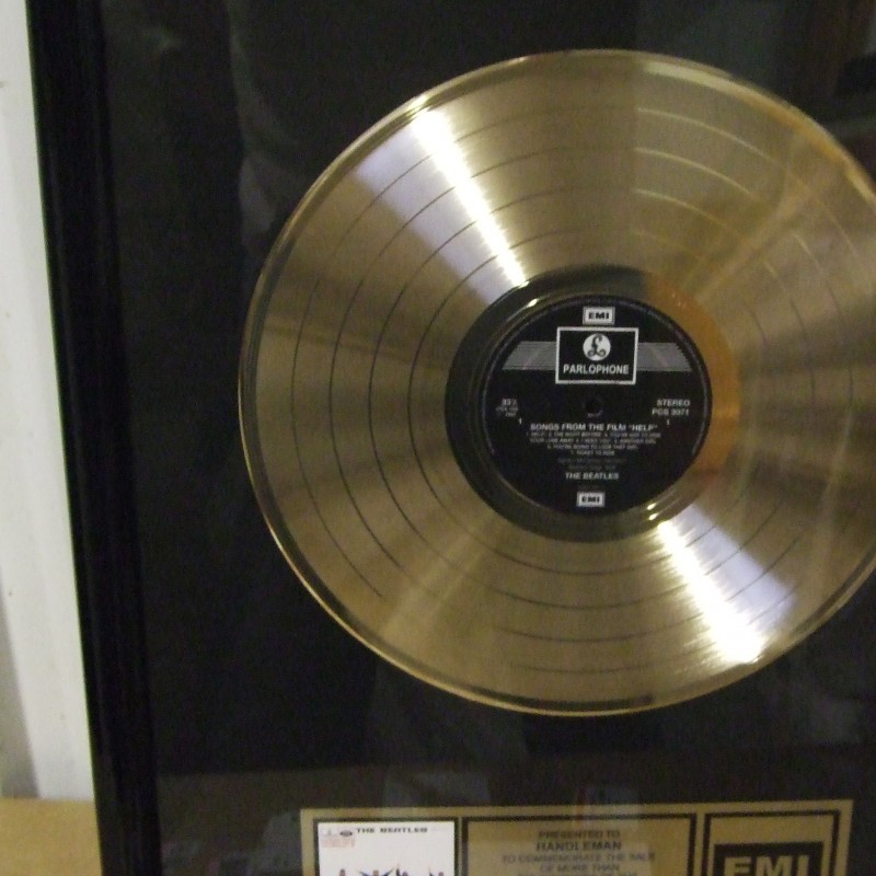 Beatles Gold Disc awarded for the album 'Help!'