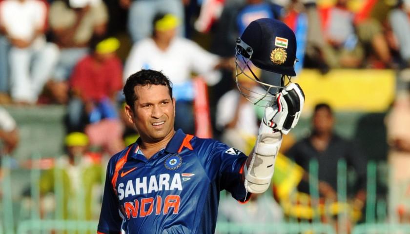 Cricket Bat Hand Signed by Sachin Tendulkar