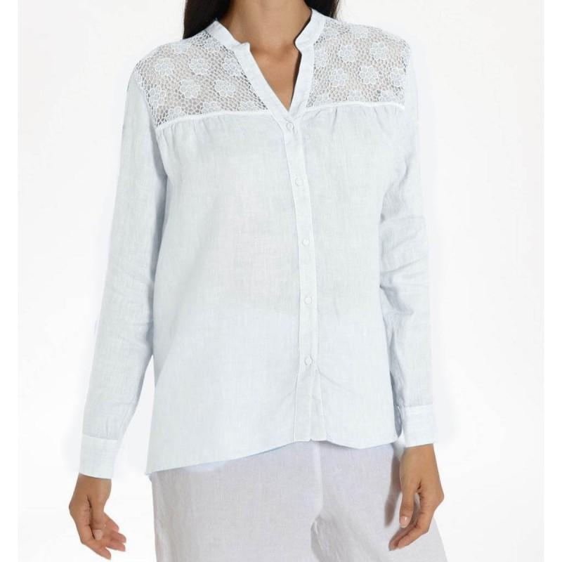 WHITE Women's Shirt by 120% Lino