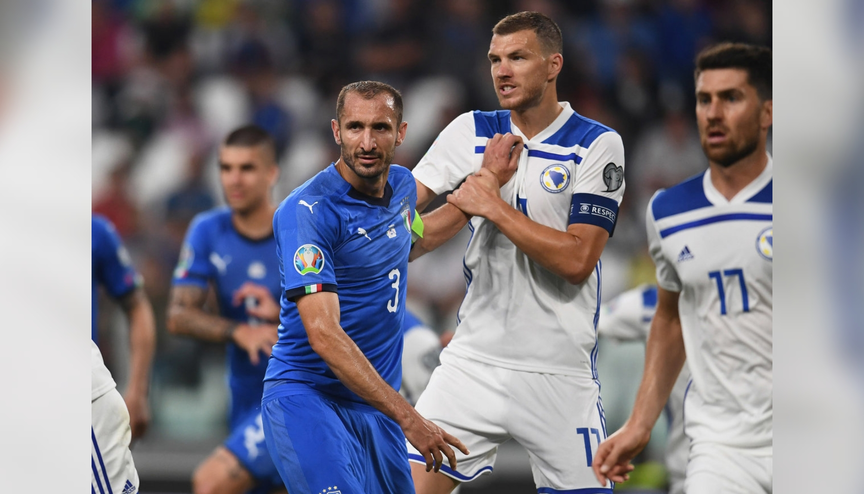 Chiellini's Match Shirt, Italy-Bosnia 2019 - CharityStars