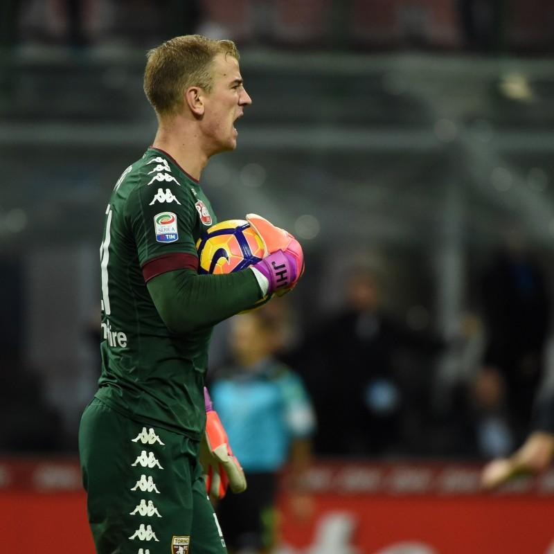 Hart Match Worn Gloves, Serie A 2016/17 - Signed