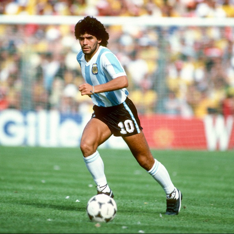 Official Argentina Cap - Signed by Maradona