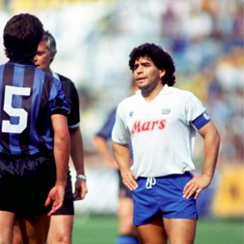Maradona's Napoli Signed Match Shirt, 1989/90