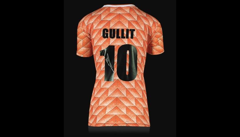 Ruud Gullit Back Signed Netherlands 1988 Home Shirt