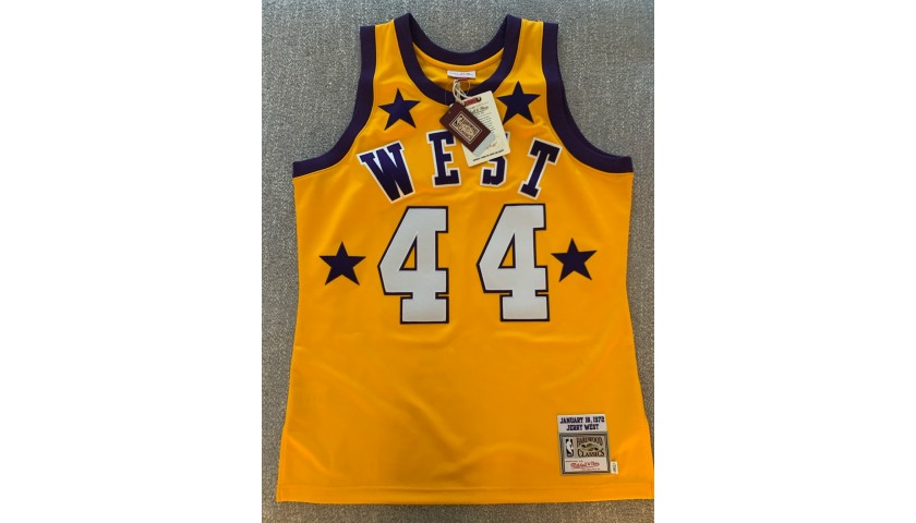 """Lakers Jersey Signed by """"The Logo"""" Jerry West"""