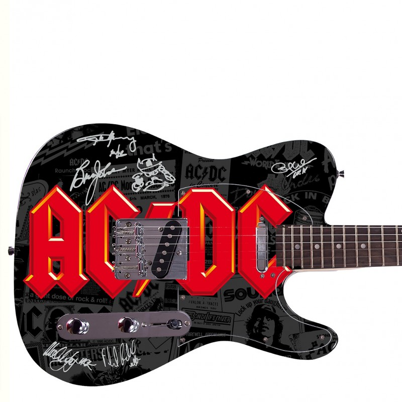 AC/DC Custom Graphics Guitar