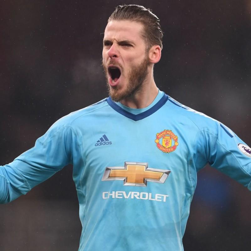 De Gea's Manchester Utd, Match-Issue/Worn Shirt, 2017/18