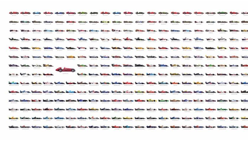 Bernie Ecclestone Signed Formula 1 Opus Art Print