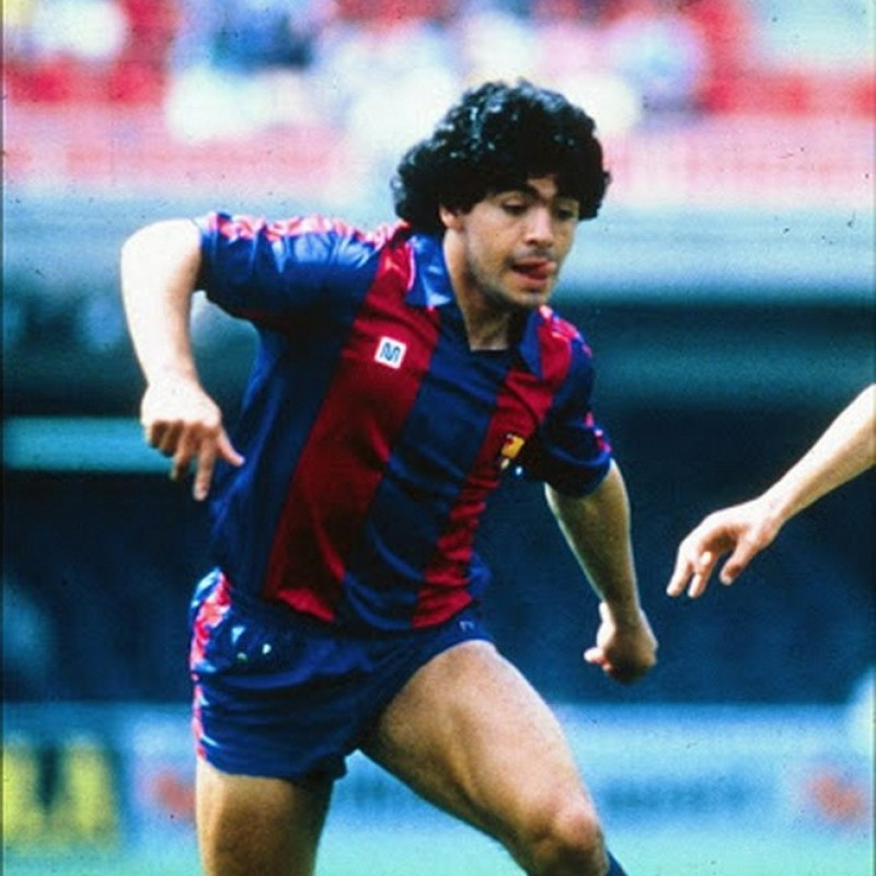 Maradona's Barcelona Match-Issued Signed Shirt, 1982/84