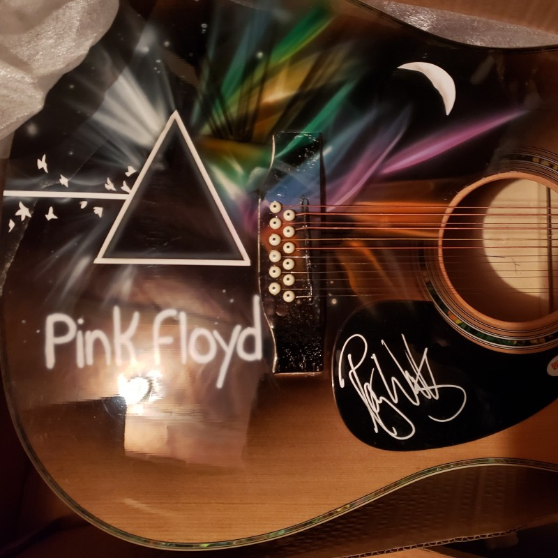 Roger Waters Hand Signed Acoustic Guitar with Airbrushed Artwork