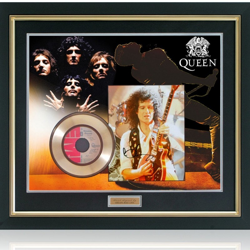 Queen - Bohemian Rhapsody Gold Disc Hand Signed by Brian May