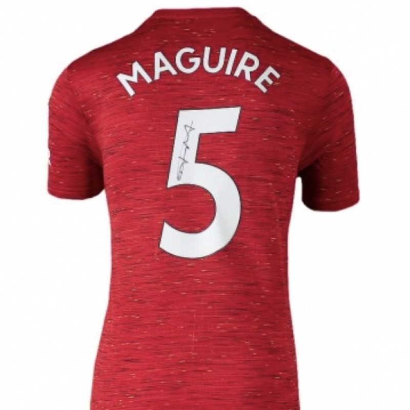 Maguire's Manchester United Signed Shirt, 2020-21