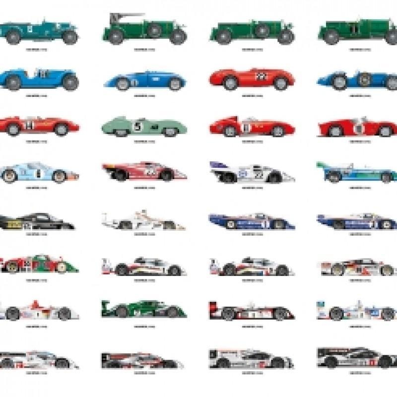 24h Le Mans Winners Art Print