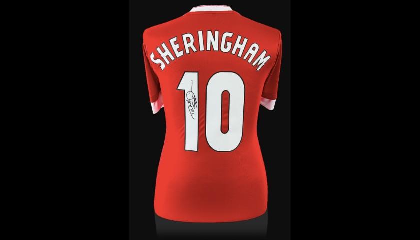 Teddy Sheringham Signed Manchester United Shirt - Number 10