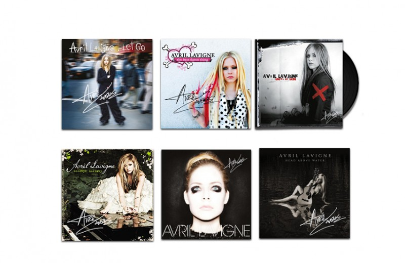 Signed Collection of Avril's Six Albums