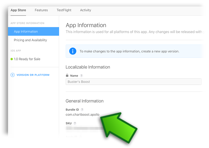Where is my app's bundle ID? – Chartboost Help Site