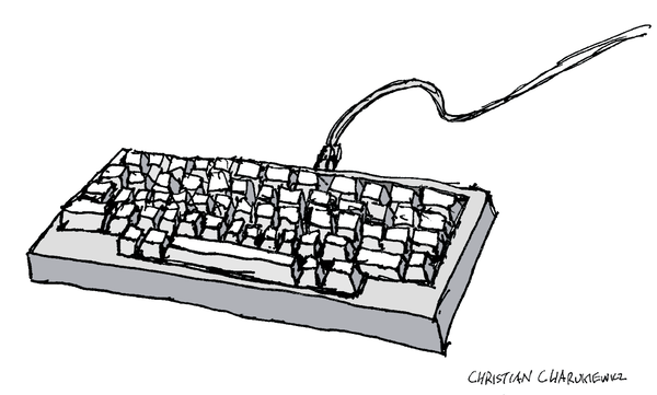 Hand-drawn keyboard signed by Christian Charukiewicz