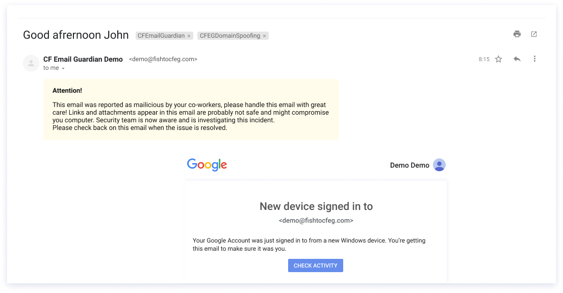 email phishing scams hacker impersonation